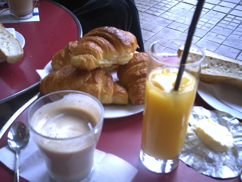 My first breakfast in Paris